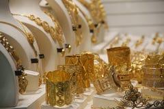 Ornamentos preciosos del oro Imagen de archivo libre de regalías
