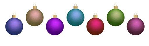 Ornamentos redondos metálicos de la Navidad stock de ilustración