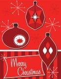 Ornamentos retros de la Navidad Fotos de archivo