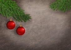 Ornamentos rojos de la Navidad Foto de archivo libre de regalías