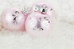 Ornamentos rosados Foto de archivo libre de regalías