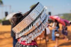 Ornamentos tradicionales de la plata de la tribu de la colina Imagen de archivo libre de regalías