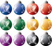 Ornamentos tribales de la Navidad ilustración del vector