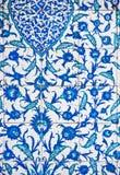 Ornamentos turcos de la teja Foto de archivo libre de regalías