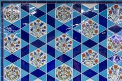 Ornamentos turcos de la teja Imagen de archivo