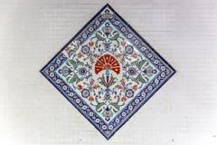 Ornamentos turcos de la teja Imágenes de archivo libres de regalías
