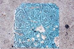 Ornamentos turcos de la teja Fotos de archivo libres de regalías