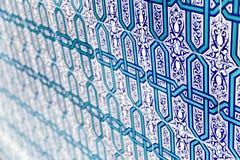 Ornamentos turcos de la teja Fotos de archivo