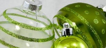 Ornamentos verdes Imagen de archivo