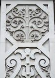 Ornamentos viejos de la puerta Foto de archivo