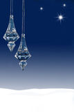Ornamentos y estrellas de la Navidad Fotos de archivo