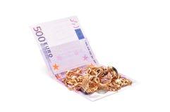 Ornamentos y euro del oro foto de archivo libre de regalías