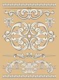 Ornamentreeks Royalty-vrije Stock Afbeeldingen