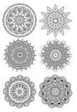 Ornamentronde met mandala wordt geplaatst die vector illustratie