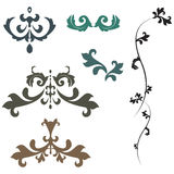 Ornaments. Set Royalty Free Stock Photography