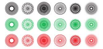 spirograph ornaments  Stock Photo