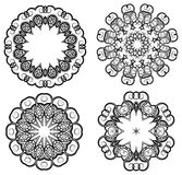 Ornaments. Oriental style ornaments isolated on white Royalty Free Stock Photography