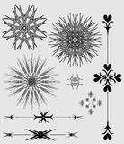 Ornaments. Border and frames -  black and gray Stock Photography