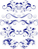 Ornaments. Set of five floral ornaments Royalty Free Stock Photography