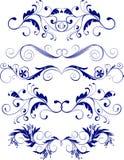 Ornaments. Set of five floral ornaments vector illustration