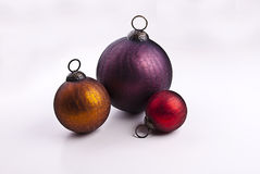 Ornaments. Still life of antique Christmas ornaments royalty free stock photo