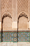 Ornaments in the Ben Youssef Medersa in Marrakesh Royalty Free Stock Photo