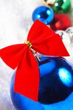Ornaments in billowy feathers. New year Stock Image