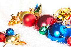 Ornaments in billowy feathers Royalty Free Stock Image