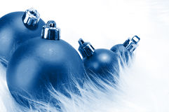 Ornaments in billowy feathers. New year Royalty Free Stock Photo