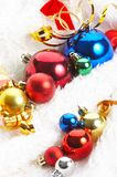 Ornaments in billowy feathers. New year Stock Photography