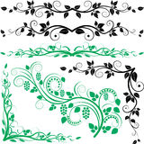 Ornaments and borders. Ornaments and corners with plant decoration Royalty Free Stock Image