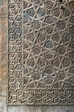 Ornaments of the bronze-plate door of an old mosque Stock Images