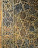 Ornaments of the bronze-plate door of Sultan Qalawun mosque, Old Cairo, Egypt stock photo