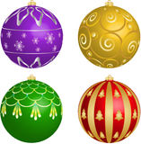Ornaments for Christmas tree Stock Images