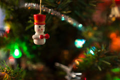 Ornaments on the Christmas tree Stock Images