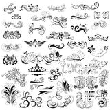 Ornaments and decorations collection Royalty Free Stock Photos