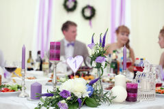 Ornaments and decorations wedding table sweets Royalty Free Stock Photo
