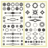 Ornaments and decorative elements. Old style ornaments and geometric patterns Stock Photography