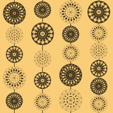Ornaments with flower and circle. Ornaments with flower in circle royalty free illustration