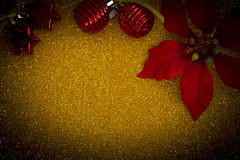 Ornaments on gold blackground Stock Photo