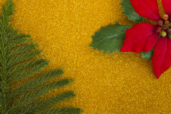 Ornaments on gold blackground Stock Photography