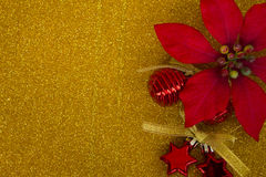 Ornaments on gold blackground Stock Image
