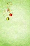 Ornaments on green textured background Royalty Free Stock Photo