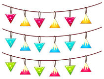 Ornaments hanging on line Stock Image