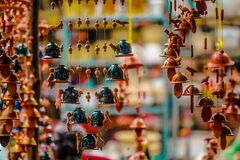 Ornaments Hanging for Sale in Market Royalty Free Stock Photos