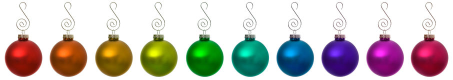 Ornaments: Isolated Christmas Ornament Borders Stock Photography