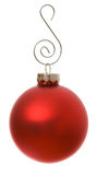 Ornaments: Isolated Christmas Ornament With SIlver Hook Royalty Free Stock Photos