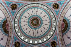 Ornaments on roof. Ornaments on mosque roof in the entrance stock photos