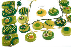 Ornaments from polymer clay Stock Photo