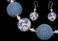 Ornaments from polymer clay Stock Photography